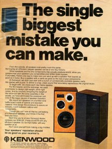 The Kenwood LS-407B - early bookshelf speaker from the 70's