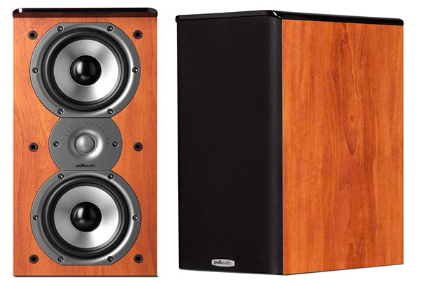 Polk-tsi-200 bookshelf speakers - cherry