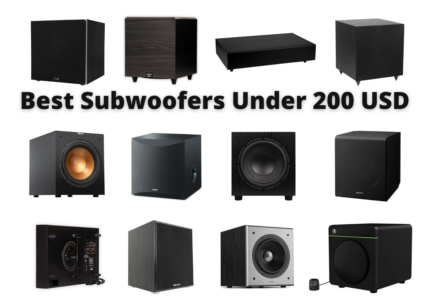 Best Subwoofers Under 200 USD – Reviews & Buyers Guide